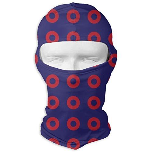 Phish Circles Full Face Ski Mask Balaclava Hood Headcover Hunting Shooting Cycling Motorcycle Tactical Comfortable Soft Headwear ()