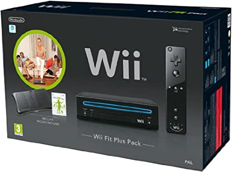 Nintendo Wii - Console Wii Fit Plus Pack, Nera + Telecomando ...