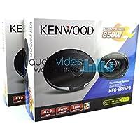 2 Pair Kenwood KFC-6995PS 6x9 Performance Series 5-Way Flush Mount Coaxial Car Speakers (4 speakers