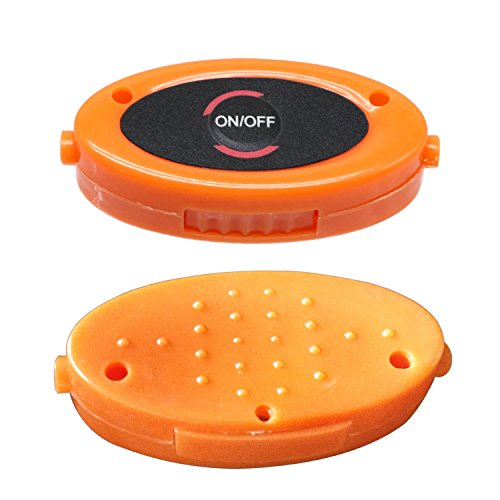 WELSUN 80cm Lumineux Orange 1 LED Red Sport Lacets Lueur Glow Paire Bâton Néon Chaussures Lacets Couleur Lacets Clignotant qprdqSw