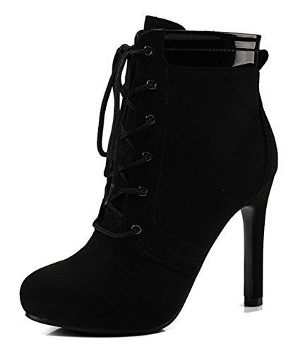 Aisun Courtes Femme Boots Mariage Noir Chaussures Sexy De Bottines PPqrU