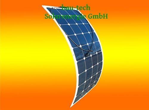 Flexibles Solarmodul Solarpanel 100Watt 12Volt Mono semi flex von bau-tech Solarenergie GmbH