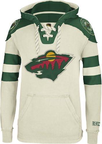 Under blast sales Classic NHL Minnesota Wild Men's CCM Hooded Pullover