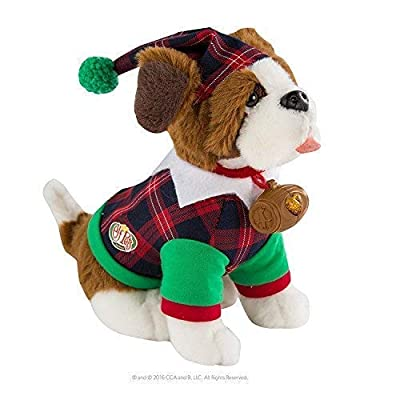 Elf on The Shelf Claus Couture Playful St Bernard PJs Doll, Red/Green: Toys & Games