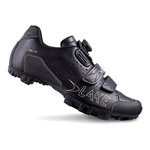 LAKE SHOE MX168 MTB BOA/VELCRO BLACK