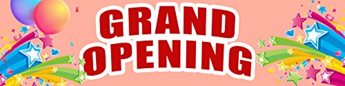 Dmall Grand Opening Banner Grand Opening Flag Business Banner Advertising Pennant Store Signs Flag Restaurant Sign-2 X 8 Ft (Banner Outdoor Opening)