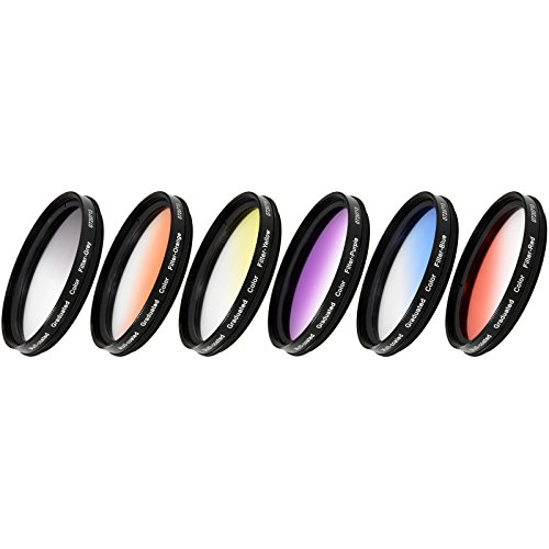 Vivitar VIV-FKGR6-77 6-Piece Multi-Coated Rotating Graduated Color Filter Set (77mm)