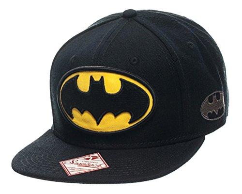 bioWorld Men's DC Comics Batman Logo Black Snapback Cap