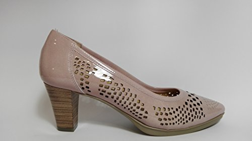 Rosa nude Calados Desiree Piel Zapatos De Laser Mujer grabado 8qpFg