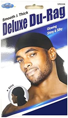 Shiny /& Silky Deluxe Durag Smooth /& Thick Set of 2 Navy Blue /& White