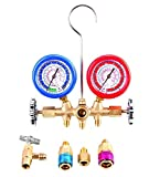 Aain LX1004 (R) R134A Aluminium Pro Ac A/C Diagnostic Manifold Gauge Set For Refrigerants With Hoses & Couplersuplers