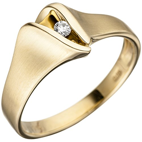 JOBO Damen-Ring aus 585 Gold mit Diamant