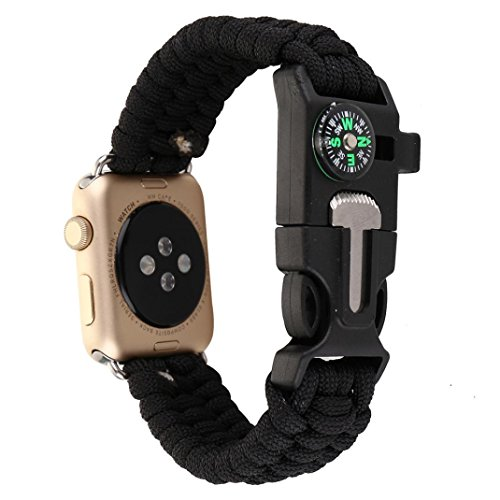 :For iWatch Apple Watch Series 1/2 42MM ,Paracord Survival B