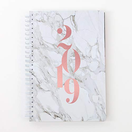 2019 Monthly Weekly Planner Calendar Appointment Book, 5.5 x 8 inches, Premium Paper, Chic Fashionable Elegant (AJWP-201)