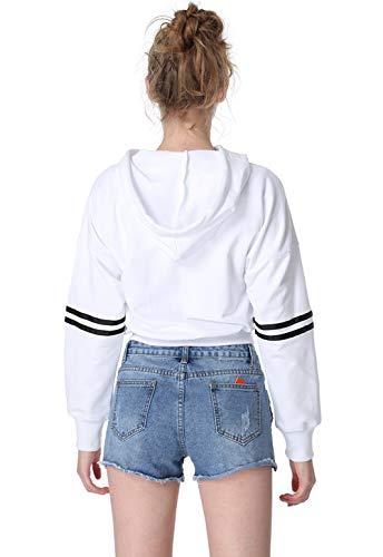 Maglione Con Autunno Sweatshirt Tops Casual Lunga Pullover E Donne Moda Cappuccio Felpe Primavera Maglie Corto A Cime Maglietta Manica Patchwork Bluse Jumper 5q46wZX