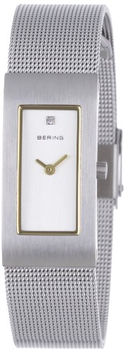 BERING Time 10817-004 Womens Classic Collection Watch with Mesh Band and scratch resistant sapphire crystal. Designed in Denmark.