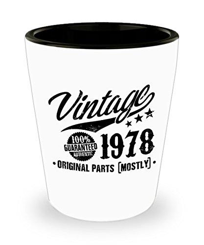40th Birthday Gift Vintage 1978 Shot Glass 11oz - 40 Years O
