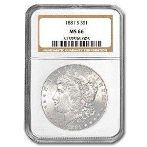 1881 S Morgan Dollar MS-66 NGC $1 MS-66 NGC
