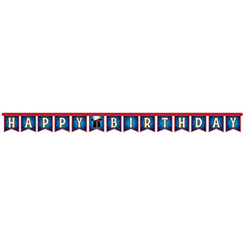 Magic Birthday Party Supply Pack: Straws, Party Banner, Dizzy Danglers, and Honeycomb Centerpiece by Cedar Crate Market (Image #3)