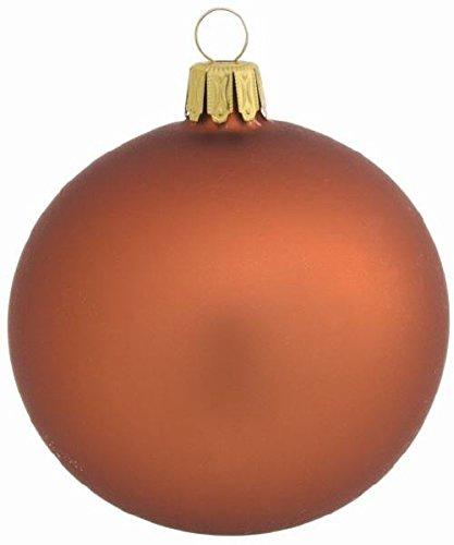 Copper Christmas Ornaments.4 Copper Mat Glass Ball Christmas Ornaments 8 Cm Mouth