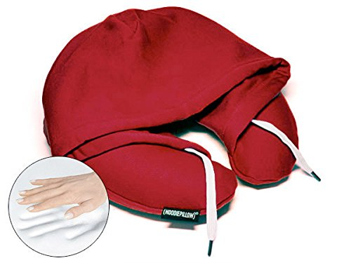 HoodiePillow フーディーピロー メモリーフォーム旅行枕 One Size Fits Most レッド B0100E89EY B0100E89EY バーガンディー バーガンディー