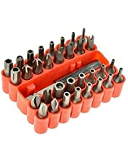 33PC Veiligheid Sabotage Proof Torq Torx Hex set torq torx hex schroevendraaier Bit Set Holder Screw Driver Heads Kit