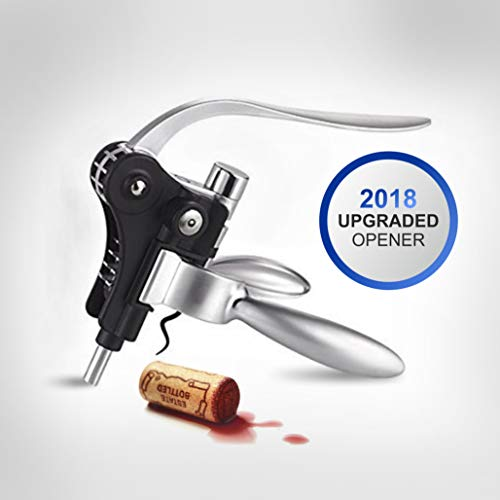 TopWine Rabbit Corkscrew | Rabbit Wine Opener Stainless Steel Red Wine Bottle Opener Tool Kit by TopWine