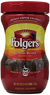 Folgers Instant Coffee, 8 oz