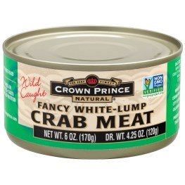 Crown Prince Natural, Fancy White-Lump Crab Meat, 6 oz (170 g)(pack of 2)