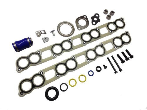 - Ford 6.0L intake manifold gasket set with EGR Cooler and Turbo Installation gasket kit for 2003 - 2007 Ford 6.0L Powerstroke diesel F250 F350 F450 F550 Excursion E-Series