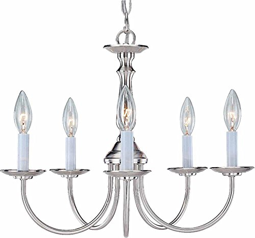 Volume Lighting V4515-33 5-Light Chandelier, Brushed Nickel