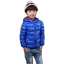 Ilishop Boy's Hooded Winter Coat Packable Light Weight Down Jacket