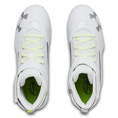 Under Armour Boys' Harper 3 Mid Jr. RM Baseball Shoe, (100)/White, 1.5 by Under Armour (Image #9)