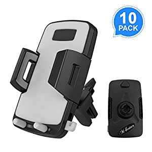 Cellphone Holder, M-Better Firmly Car Air Vent Mount Holder 10 Pack Multifunctional Holderfor iPhone X 8 8 Plus 7 7 Plus 6s 6 Plus 6 5s 5 SE Samsung Galaxy S6 S5 S4