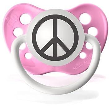 Amazon.com: Personalizada símbolo de la paz chupetes Chupete ...