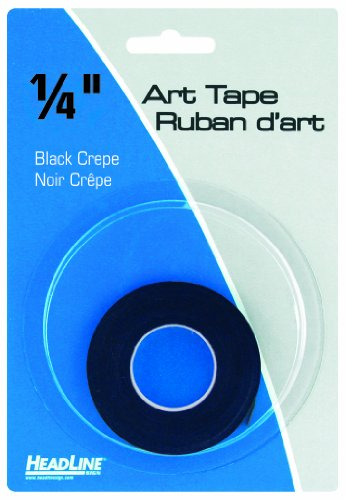 Headline Sign 73041 Graphic Art Tape, Black, 1/4-Inch Wide, 324 Inches ()