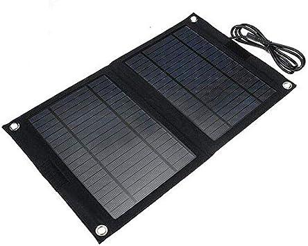 TYNBB Panel Solar Portátil Cargador 25W con 2 Paneles Solares ...