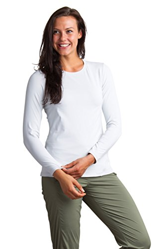 ExOfficio Women's Sol Cool Performance Long Sleeve, Platinum, Medium (Ex Officio Womens Vest)