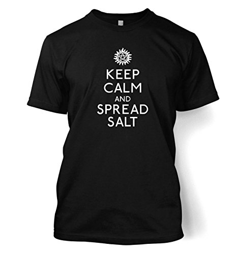 Keep Calm And Spread Salt t-shirt - Films,TV and movie Geeky Tshirt - Black Medium (38/40