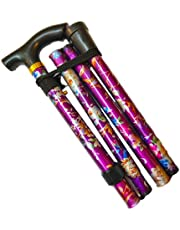 Walking Stick, Easy Adjustable Height Folding Extendable Walking Cane, Lightweight Flexible and Durable Walking Aid Mobility Aid Collapsible Walking Stick