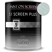 Projector Screen Paint (S1 Screen Paint Silver) - Home & Professional Use - Up to 240