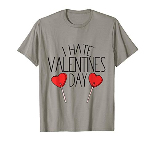 I hate Valentine's day tshirt cute anti-Valentine tee shirts