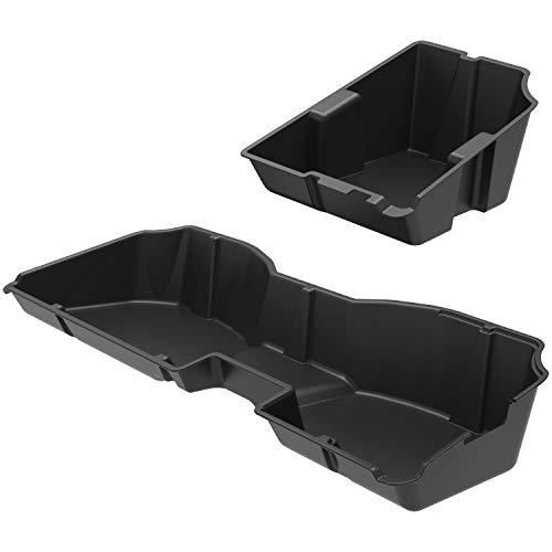 oEdRo Upgraded Under Seat Storage Box Compatible for 2014-2018 Chevrolet Silverado/GMC Sierra 1500, 2015-2019 Silverado/Sierra 2500 3500 HD Crew Cab - Unique Textured Black 2-in-1 Design Max Storage