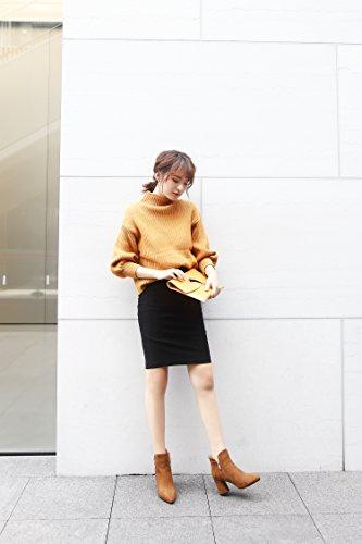 hexiajia Botas mujer amarillo