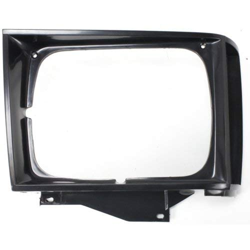 Headlight Door Compatible with CHEVROLET S10 PICKUP 1982-1990 RH Black