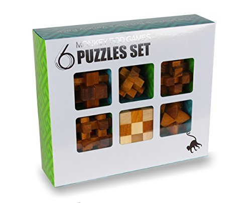 (Monkey Pod Games Six-Pack Gift Set - Full Size Puzzle Set with Larger)