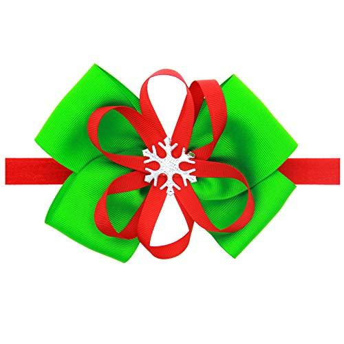 LOKODO Baby Girl Christmas Hair Accessories Ornaments Headdress Elastic Hair Band Headwear -