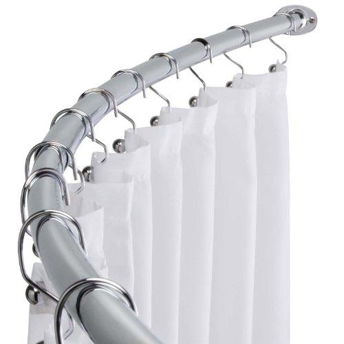 Curved Shower Curtain Rod Adjustable Bath Tub Accessory, Chrome (Curtains Clearance Shower)