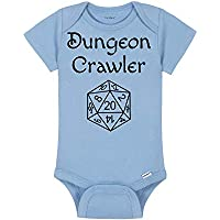 Gaming Baby Onesie® - Dungeon Crawler - D20 Pen And Paper Tabletop Gamer - Dungeons And Dragons DND Dice - Role Playing Game RPG - Handmade Baby Bodysuit For Boys And Girls - Baby Shower Gift Idea