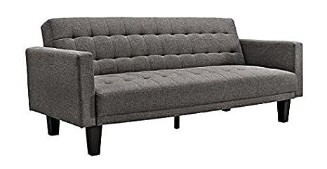 Amazon.com: Sofá cama Sienna de DHP, lino, Gris ...